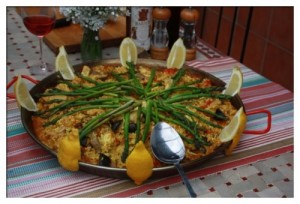 paella chicken 300x204 Have Paella Pan Will travel   Guest post