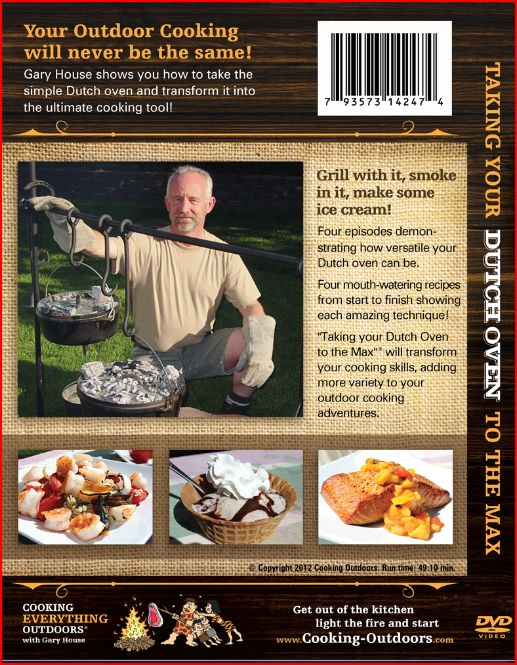 Cover back Taking Your Dutch oven to the Max DVD release!