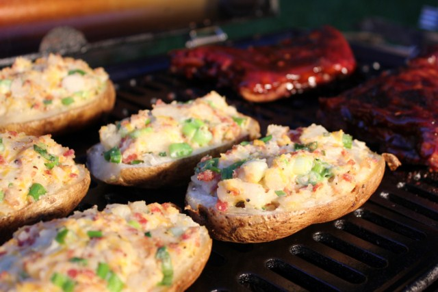 Twice Baked Potatoes on the Grill
