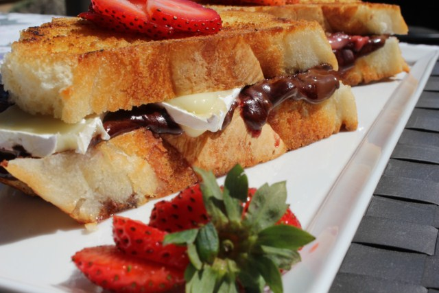 Grilled Strawberry, Chocolate and Brie Sandwich