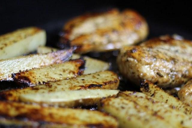 Greek Chicken and Lemon Roasted Potatoes Recipe