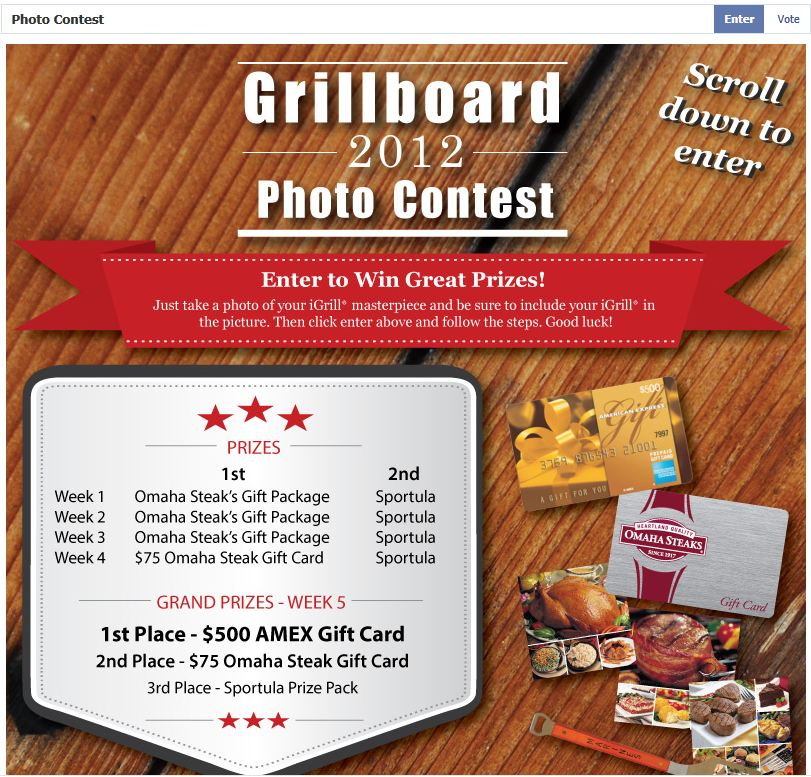 Prizes iGrill Wireless Cooking Thermometer Photo Contest