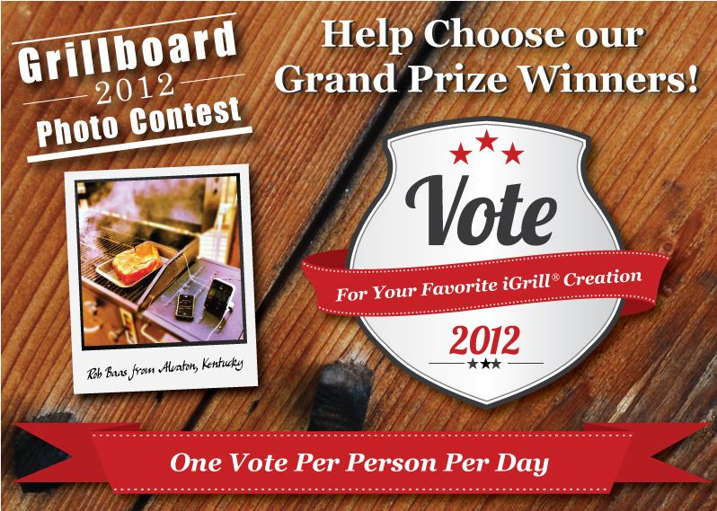 Vote page iGrill Wireless Cooking Thermometer Photo Contest