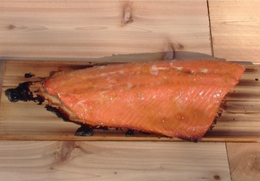 Apricot Orange Glazed Cedar Plank Salmon Recipe