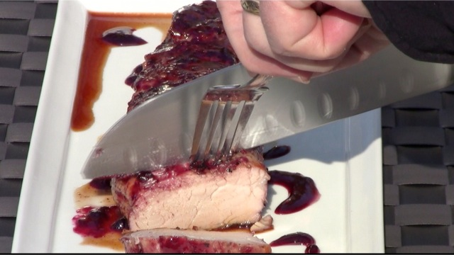 capture 191 Grilled Blackberry Glazed Pork Tenderloin