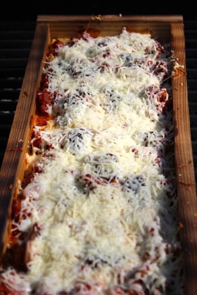 Grilling Lasagna in a Cedar Plank Tray video