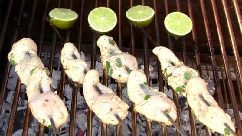 Grilled Margarita Chicken Skewers13 Grilled Margarita Chicken Skewers recipe