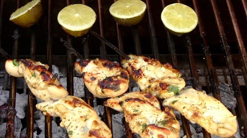 Grilled Margarita Chicken Skewers14 Grilled Margarita Chicken Skewers recipe