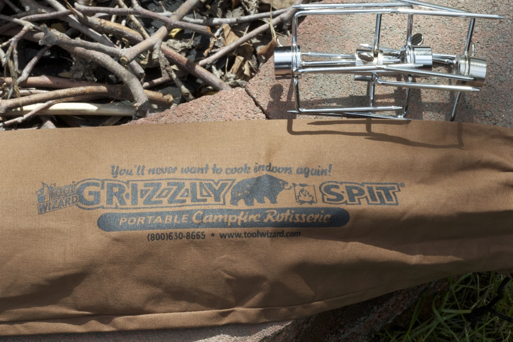 Grizzly Spit Portable Rotisserie 5976 1 Grizzly Spit Portable Campfire Rotisserie Kit