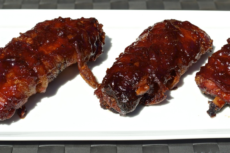 BBQ Bacon Wrapped Ribs