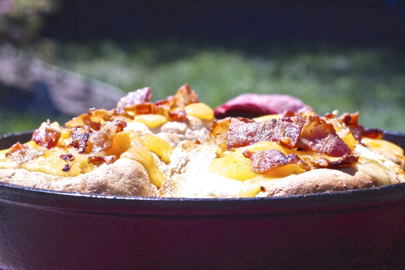 Cast iron Skillet Biscuit and Egg Boats Recipe