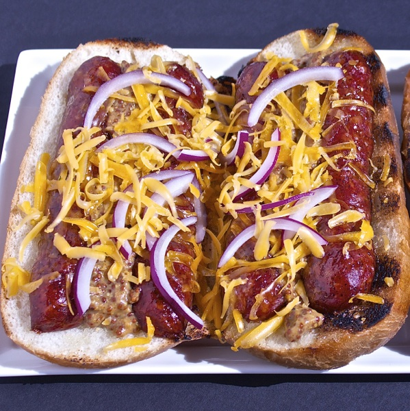Tailgate Recipes Open Faced Smoked Sausage Sandwiches