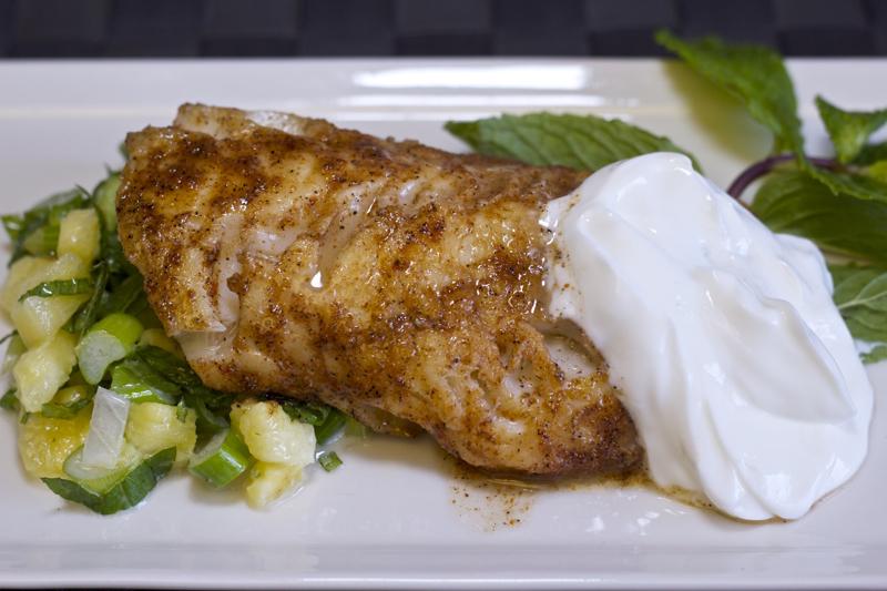Cajun blackened fish with pineapple salsa recipe for Cajun fish recipes