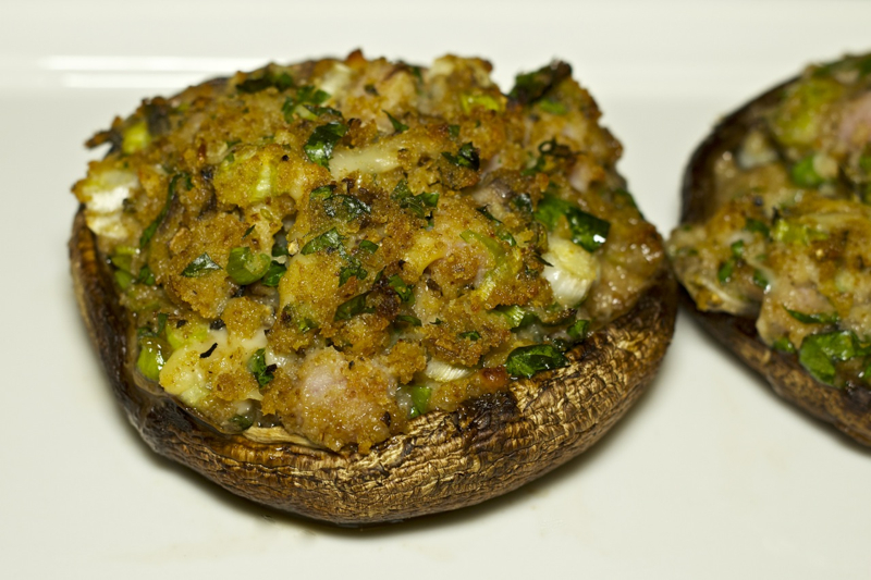 Ham and Herb Stuffed Portabella Mushrooms on the Grill Recipe