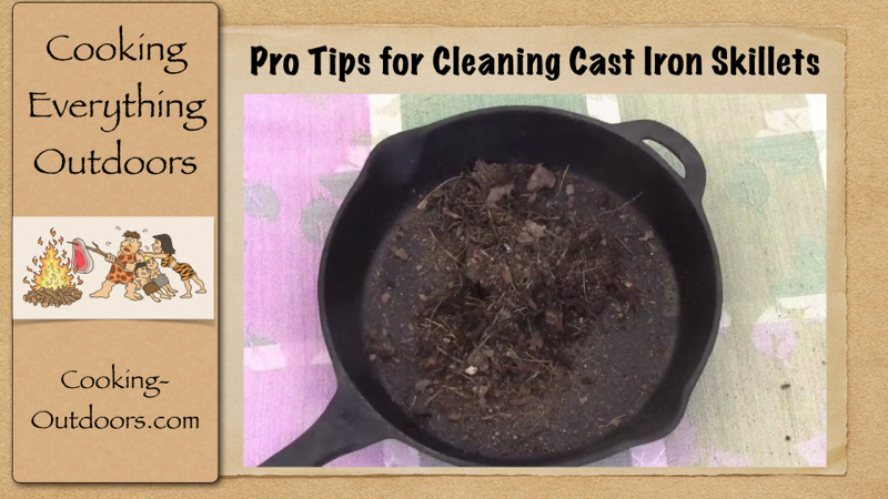 how to clean cast iron bbq grill after cooking