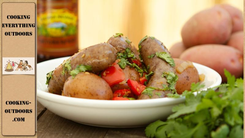 Dutch oven Beer Brats and Potatoes Recipe