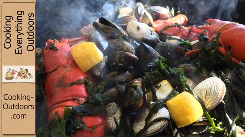 Backyard New England Clam Bake in a Weber Kettle