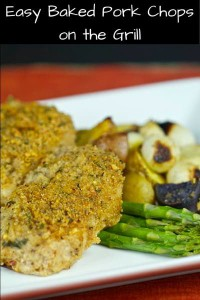 Easy Baked Pork Chops on the Grill - Cooking Outdoors