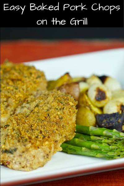 Easy Baked Pork Chops on the Grill