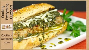 Grilled Italian Meatball Sandwich with Pesto Sauce Recipe