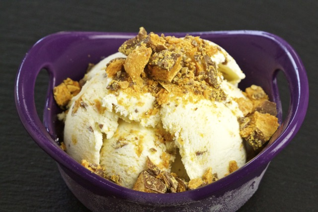 Homemade Butterfinger Vanilla Ice Cream Recipe