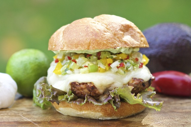 Spicy Southwest Grilled Pork Burger with Tomatillo Salsa | Island ...