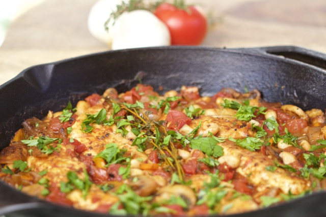 Easy Tuscan Chicken Cast Iron Skillet Recipe for the Grill