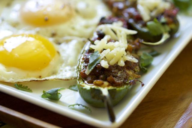 Easy to Grill Spicy Stuffed Jalapeño Breakfast Poppers