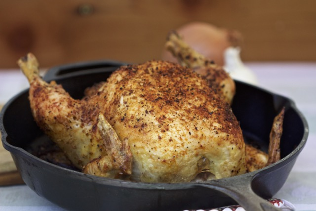 How To Grill A Whole Chicken Cast Iron Skillet Recipe
