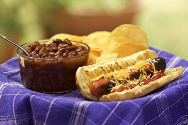 Hot Dog Chips and Whiskey Hollow Baked Beans | Cooking-Outdoors.com | Gary House