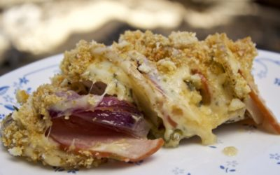 Dutch oven Idaho Potato Chicken Cordon Bleu Recipe