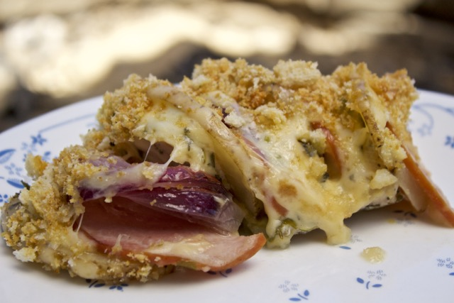 Dutch oven Idaho Potato Chicken Cordon Bleu Recipe