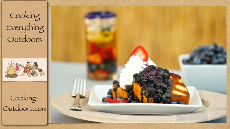 Grilled Blueberry Shortcake