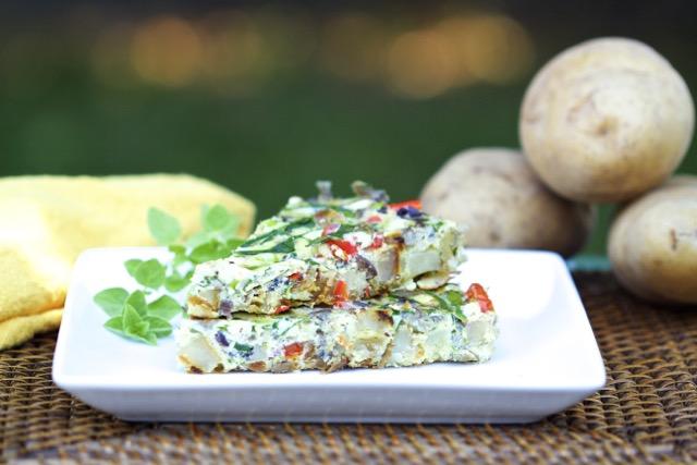 Idaho Potato Dutch oven Greek Frittata Recipe