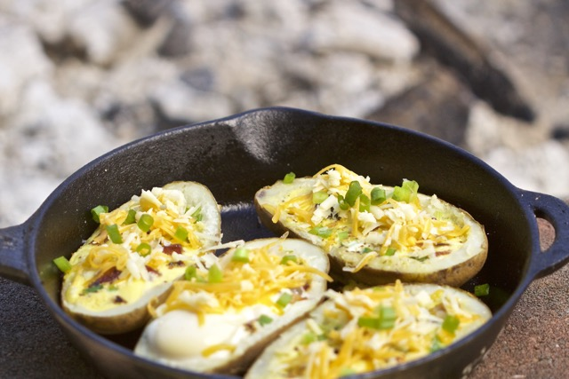 Easy Camp Breakfast Potato Boats Recipe