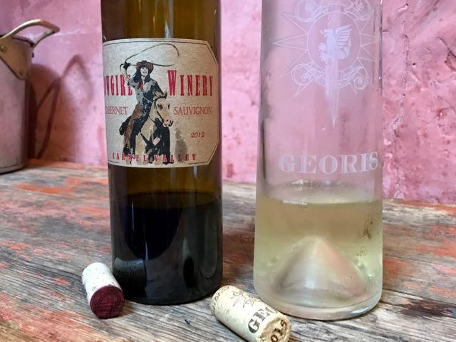 Georis Peno Grecio & Cowgirl wines | NevertoOldtoTravel.com | Gary House