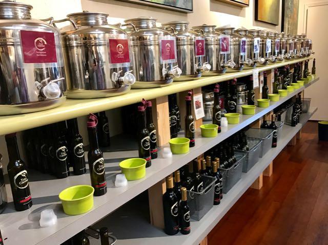 Olive oil samples at Trió Carmel | NevertoOldtoTravel.com | Gary House