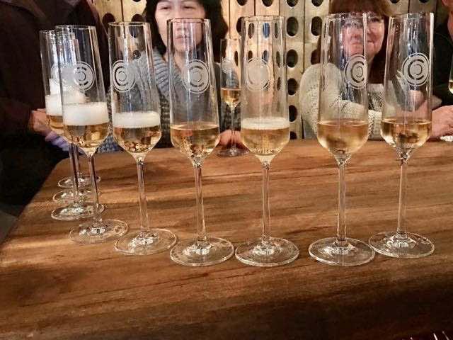Sampling sparkiling wine at Caraccioli Cellars | NevertoOldtoTravel.com | Gary House